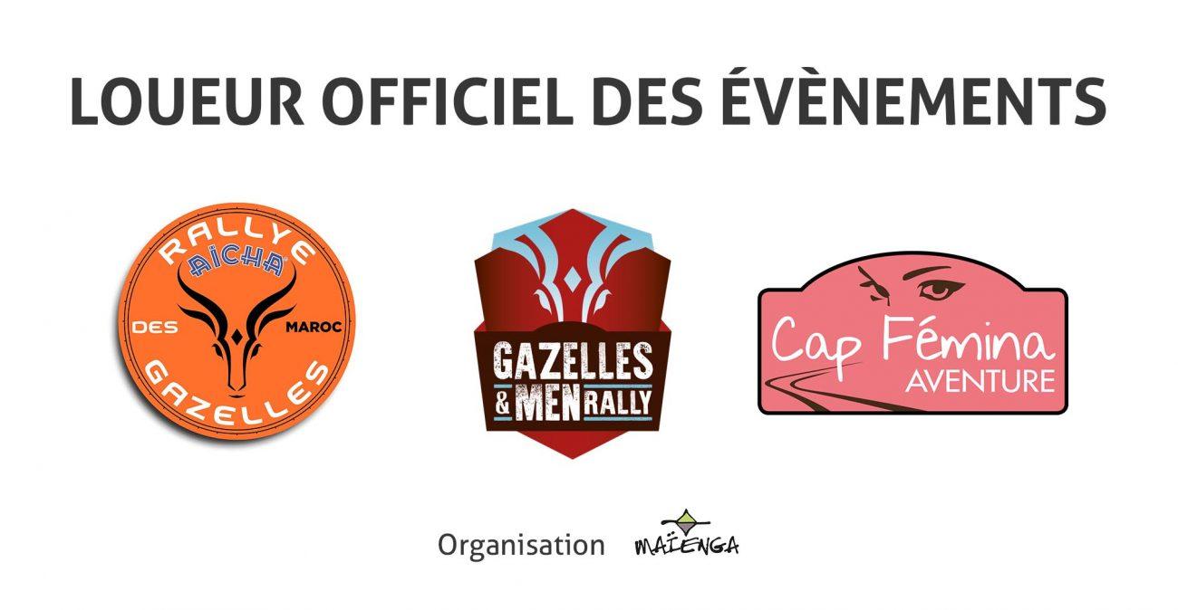 JUGAND Location, loueur officiel pour de nombreux rallyes : Aïcha des Gazelles, Gazelles and men rally, Cap Fémina Aventure